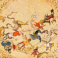 Zodiac Signs From Indian Manuscript Print by Science Source