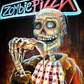 Zombie Pizza Poster by Heather Calderon
