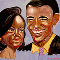 Barak and Michelle Obama   The Power of Love Print by Rusty Woodward Gladdish