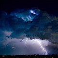 Clouds of Light Lightning Striking Boulder County Colorado Poster by James BO  Insogna