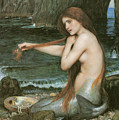 A Mermaid Print by John William Waterhouse