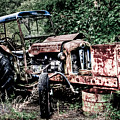 Abandoned Tractor Print by Gert Lavsen