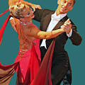 BALLROOM DANCERS Poster by Larry Linton