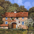 casolare a primavera by Guido Borelli