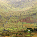 Cottage at the foothill of the colorful Connemara mountains Ireland  Print by Pierre Leclerc Photography