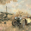 Cream Cracker MG 4 Spitfires  Print by Peter Miller