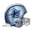 Dallas Cowboys Helmet Poster by James Sayer