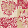 Deco Heart Red Poster by JQ Licensing
