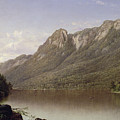 Eagle Cliff at Franconia Notch in New Hampshire Print by David Johnson