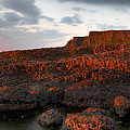 Giants Causeway at Sunset Poster by David Cordner