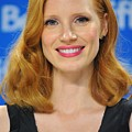 Jessica Chastain At The Press Print by Everett