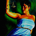 Lady Justice Poster by Laura Pierre-Louis
