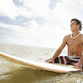 Male Surfer Poster by Brandon Tabiolo - Printscapes