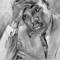 Martin Luther King Jr Poster by Ylli Haruni