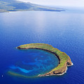 Molokini Aerial Poster by Ron Dahlquist - Printscapes