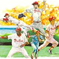 Phillies Through The Ages Poster by Brian Child