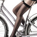 Sexy Woman Riding a Bike Poster by Oleksiy Maksymenko