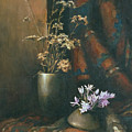 Still-life with snow drops Print by Tigran Ghulyan