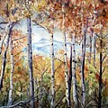 Tetons in Autumn Poster by Patricia Pushaw