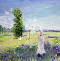 The Walk Print by Claude Monet