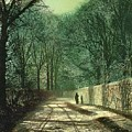 Tree Shadows in the Park Wall Poster by John Atkinson Grimshaw