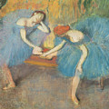 Two Dancers at Rest Poster by Edgar Degas