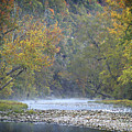 1010-3979 Buffalo River Boxley Valley Fall Print by Randy Forrester