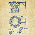 1951 Basketball Net Patent Artwork - Vintage Print by Nikki Marie Smith
