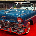 1956 Chevrolet Bel-Air Convertible . Blue . 7D9248 Print by Wingsdomain Art and Photography