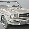 1965 Ford Mustang Print by Daniel Storm