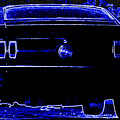 1969 Mustang in Neon 2 Poster by Susan Bordelon