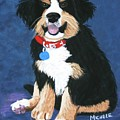 Burmese Mountain Pup Print by Michele Turney