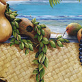 Hawaiian Still Life Panel Poster by Sandra Blazel - Printscapes