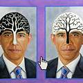 Obama Trees of Knowledge Poster by Richard Barone