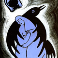 Raven Holds Me When I Weep Poster by Angela Treat Lyon