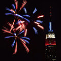 Red White and Blue Poster by Susan Candelario