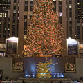 Rockefeller Center And The Famous Poster by Taylor S. Kennedy
