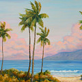 Vintage Kaanapali Poster by Christine Louise Bryant