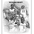 2010 NBA Draft Poster by Tanya Crum