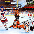 2012 Bridgestone-NHL Winter Classic Poster by Dave Olsen