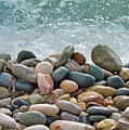 ocean stones Print by Stylianos Kleanthous