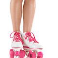 Young Woman Wearing Roller Derby Skates Print by Oleksiy Maksymenko