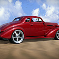 37 Chevy Coupe Poster by Mike McGlothlen