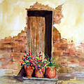 Door With Pots Poster by Sam Sidders