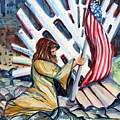 911 Cries for Jesus Print by Mindy Newman