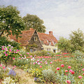 A Cottage Garden Print by Henry Sutton Palmer