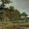 A Country House Print by J Hackaert