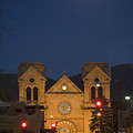 A Full Moon Rises Over  Cathedral Print by Stephen St. John