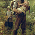 A Heavy Burden Print by Arthur Hacker