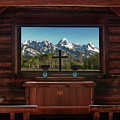A Pew With A View Poster by Sandra Bronstein